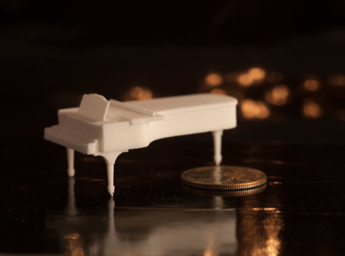 1:48 Concert Grand Piano 3d printed