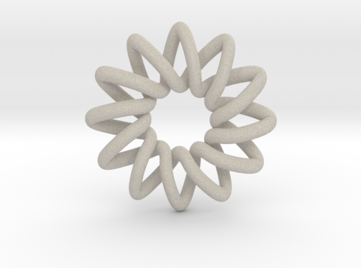Basic 12-point Knot 3d printed