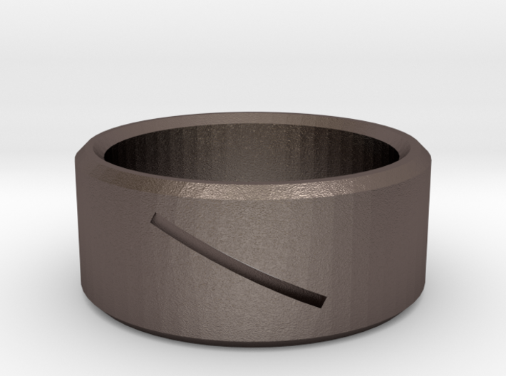 Round Ring with Slit 3d printed
