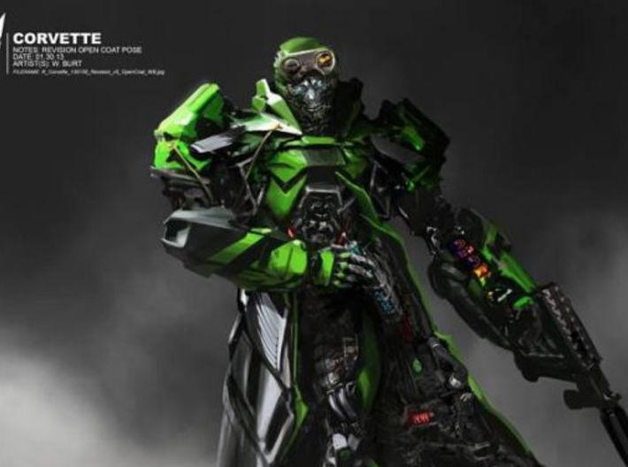 TF4: AOE Crosshairs Toys Kit 3d printed concept art with dynamite