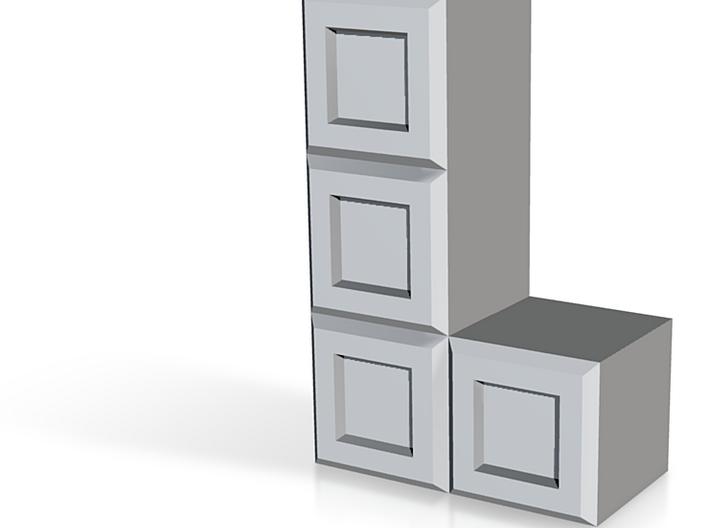 "Tetris Vase ""L"" shape standing up 3d printed"
