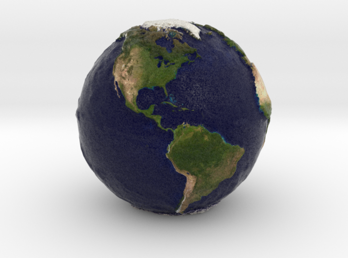 Tactile Miniature Earth 3d printed