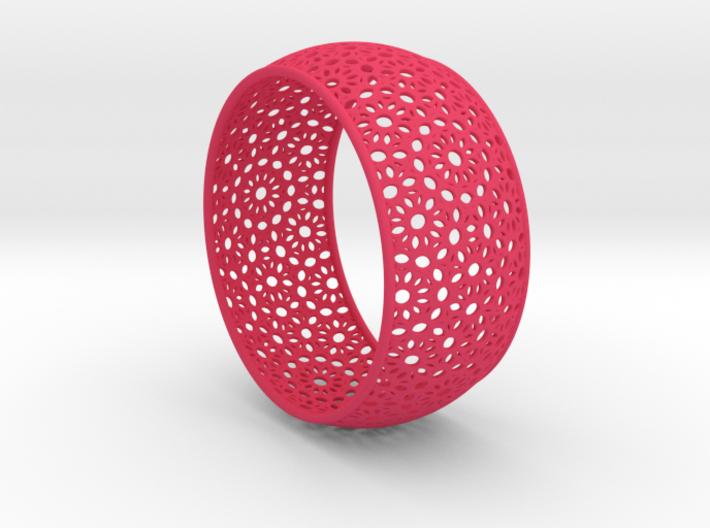 7cm Bracelet Flower Pattern Curved 3d printed
