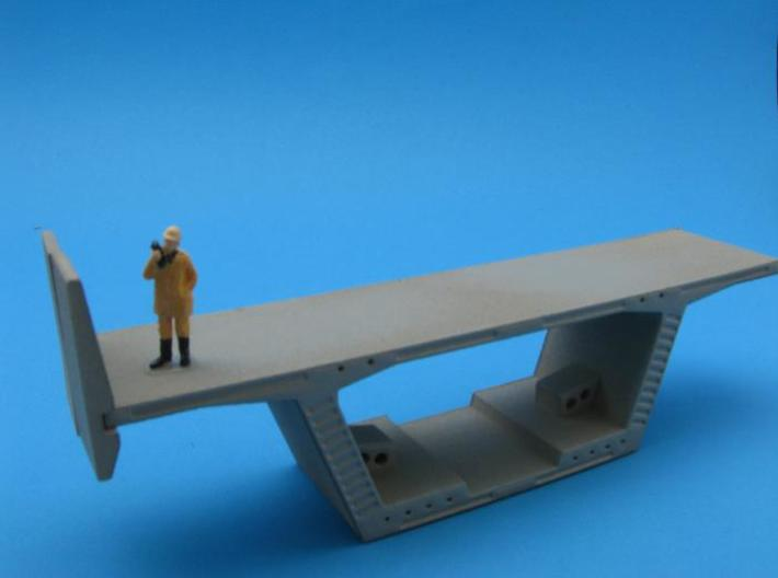 HO/1:87 Precast concrete bridge side barrier x16 3d printed diorama example with figure and parts A&B (not included)