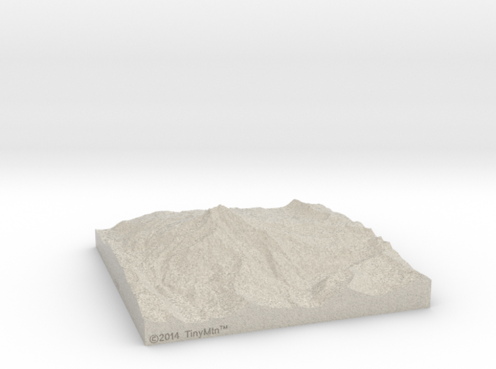 6'' Mt. Jefferson, Oregon, USA, Sandstone 3d printed