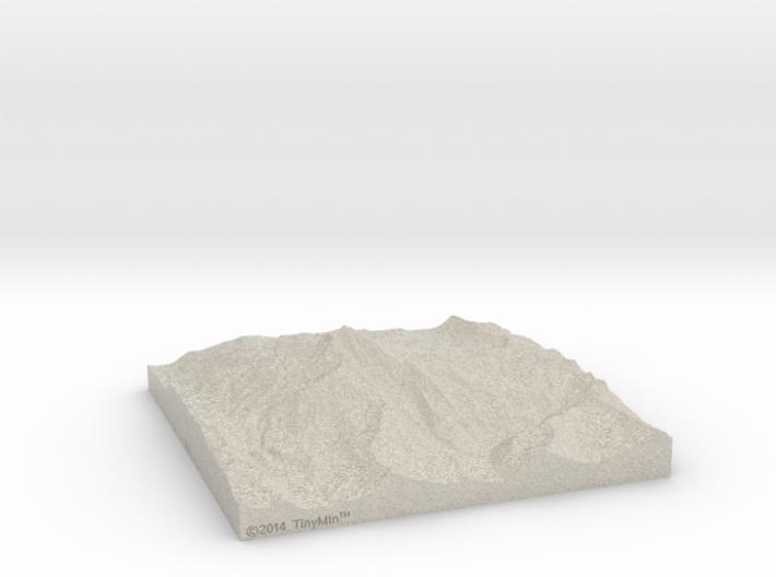 8'' Mt. Jefferson, Oregon, USA, Sandstone 3d printed