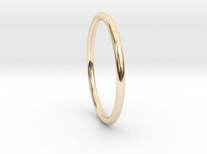 Round One Ring - Sz. 5 3d printed