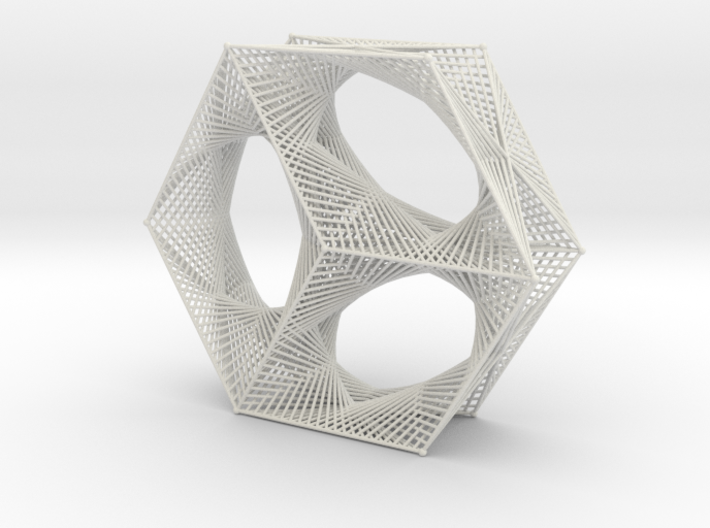 Hexagon Parabolic Curves Straight Lines Doubly 3d printed