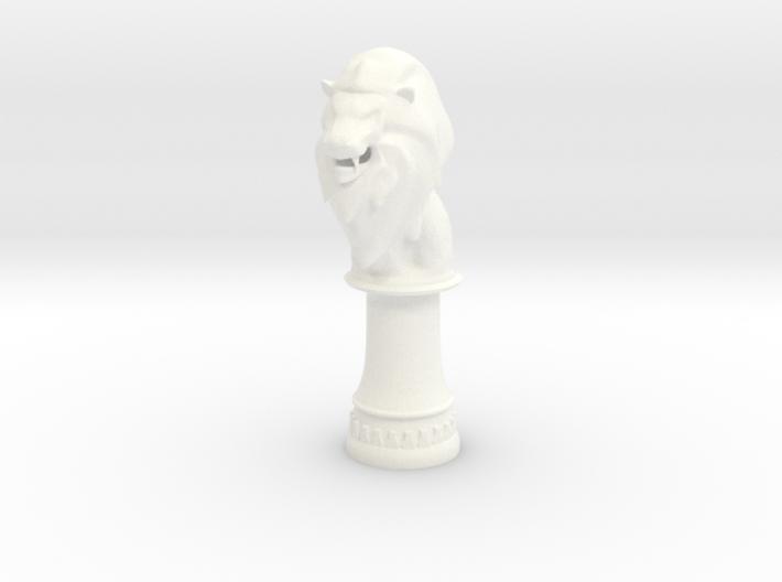 Lion Bishop (Round Base) 3d printed