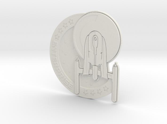 Enterprise Mission Badge 3d printed