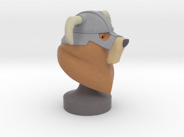 Dovahbear Bust (Full Color Sandstone) 3d printed