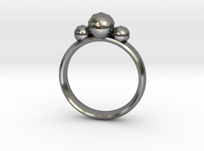 GeoJewel Ring UK Size R US Size 8 5/8 3d printed