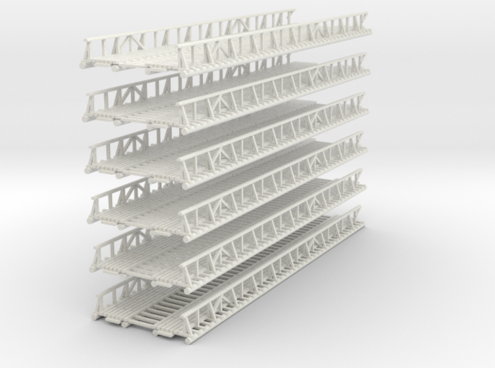 1-160 X6 Units Bridge River Kwai Platforms 3d printed