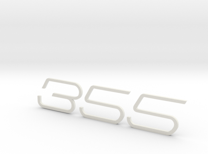 KEYCHAIN 355 F1 INSERTS WHITE 3d printed