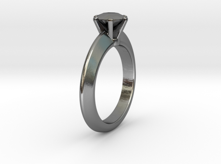 Solitaire Ring - Size M 3d printed