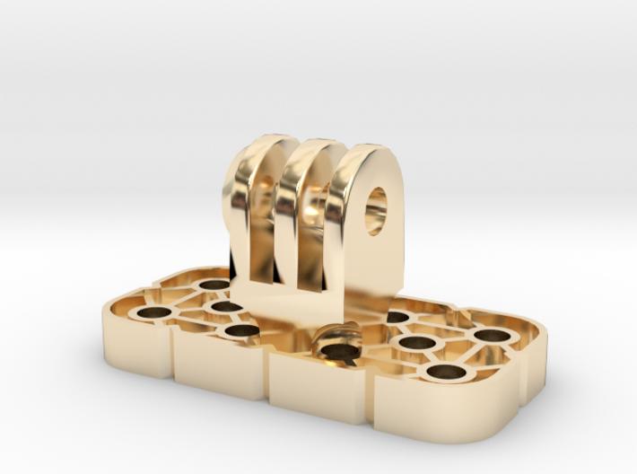 VEX IQ GoPro Adapter W Locknut 3d printed