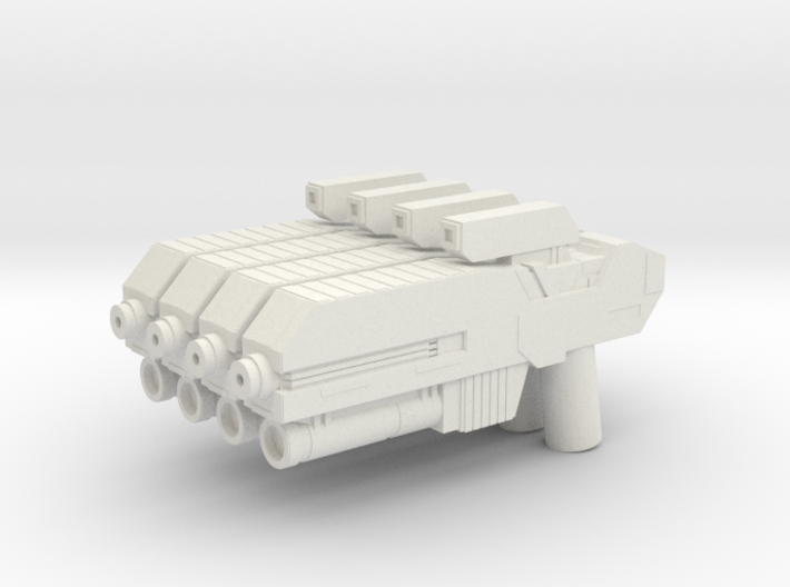 Custom scifi assault rifle x4 for Lego minifigs 3d printed