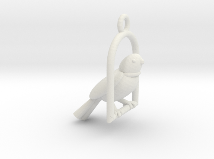 Swinging Bird Earring 3d printed