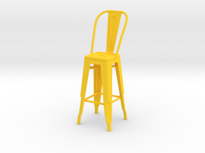 1:12 Tall Pauchard Stool, with High Back 3d printed