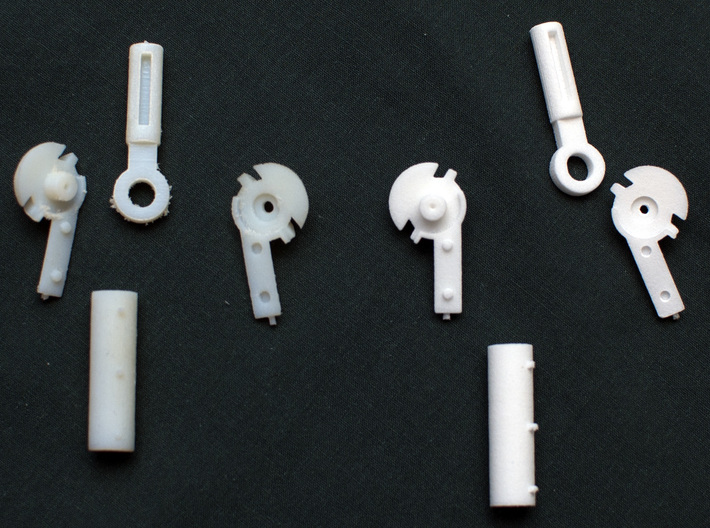 MDD Shoulder Joint Replacement 3d printed Prints in white detail and white strong and flexible.