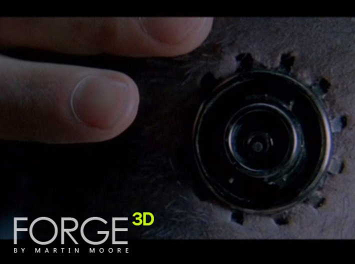 THE MATRIX - Neural Interface / Headjack 3d printed Comparison screen capture taken from The Matrix movie
