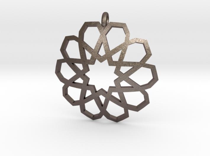Deca Pendant 3d printed