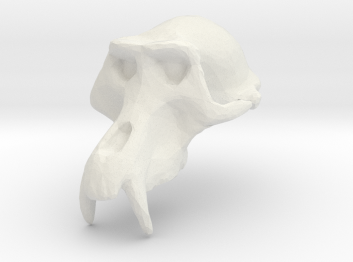 Monkey Skull - Trial 1 3d printed