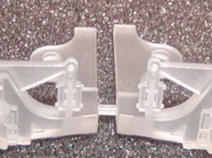 HO scale Hodges trailing truck for ATSF steam loco 3d printed front side early version with out leaf spring detail