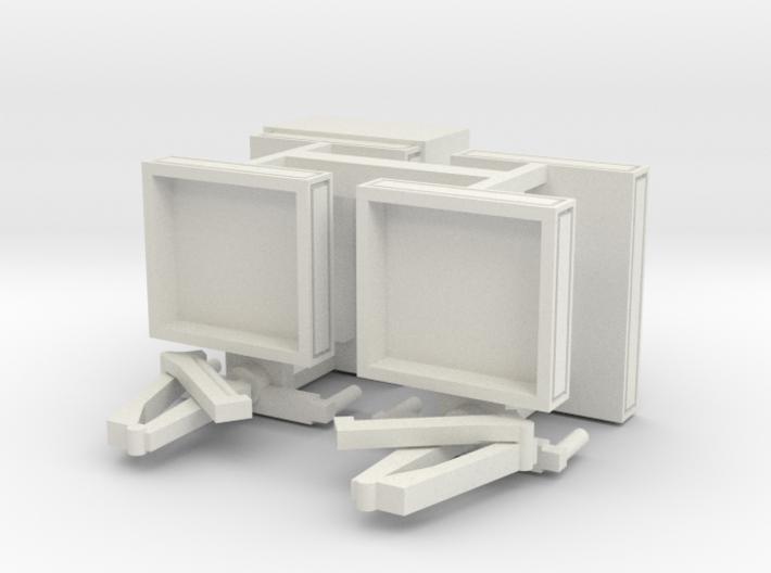 4 Pritschen für 1:160 (n scale) 3d printed