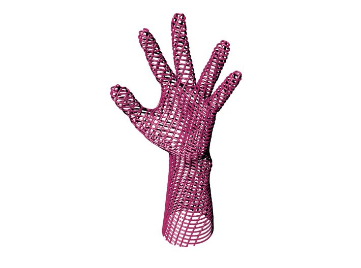 Helping Hand 3d printed Helping hand? Well more helpful than most. Inspired by those 60s mod wire chairs very CHIC!