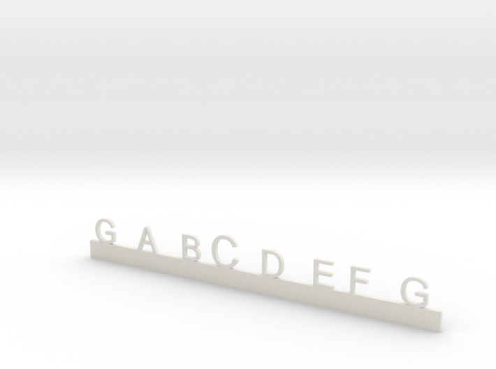 G to G Octave with Middle C highlight 3d printed