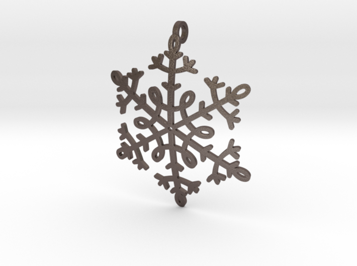 Snowflake Pendant or ornament 3d printed
