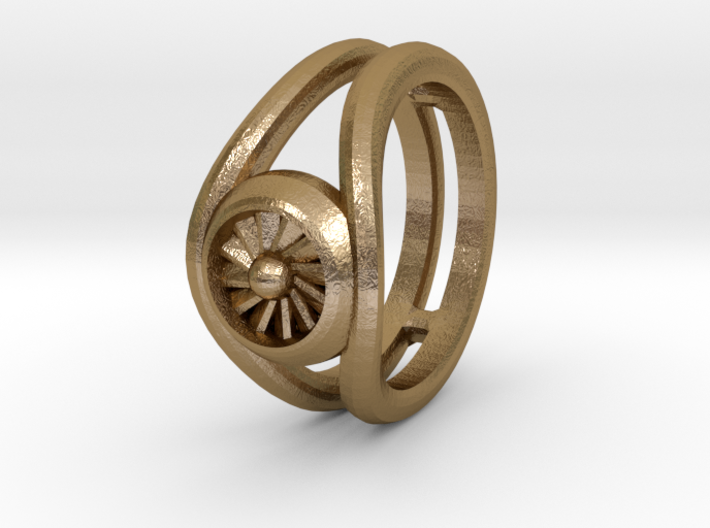 Ring - Jet Turbine Size T 3d printed