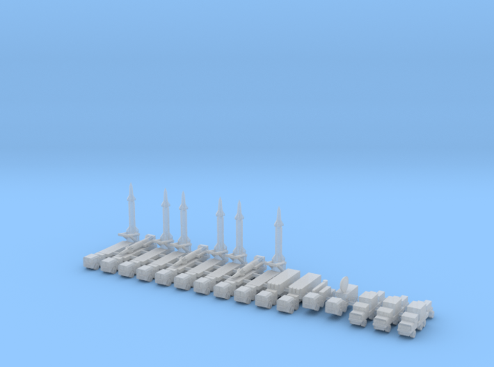 1/700 Pershing 2 Missile Battery 3d printed 1/700 Pershing 2 Missile Battery