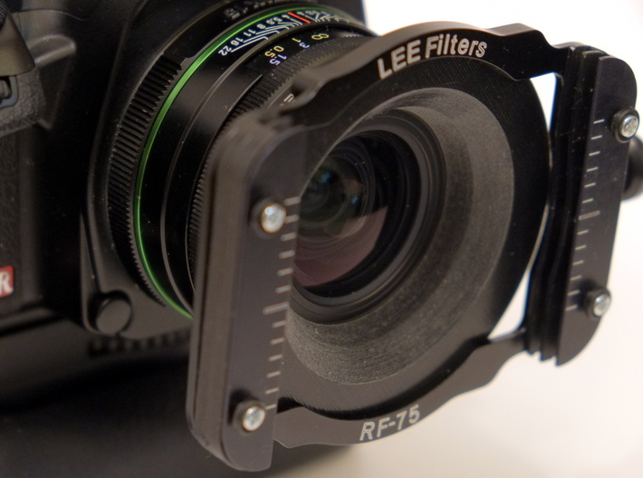 Pentax 15mm Adapter for Lee 75 Filter System 3d printed Lens with adapter and filter holder