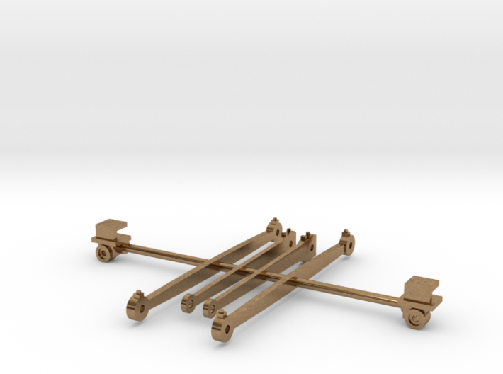 Rods and crossheads for LT&SR 442t locomotive 3d printed