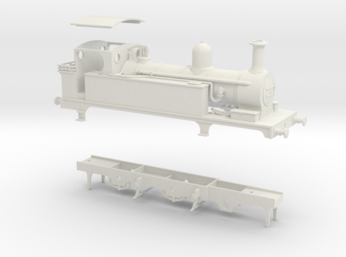 North Staffordshire Railway B Class tank 3d printed