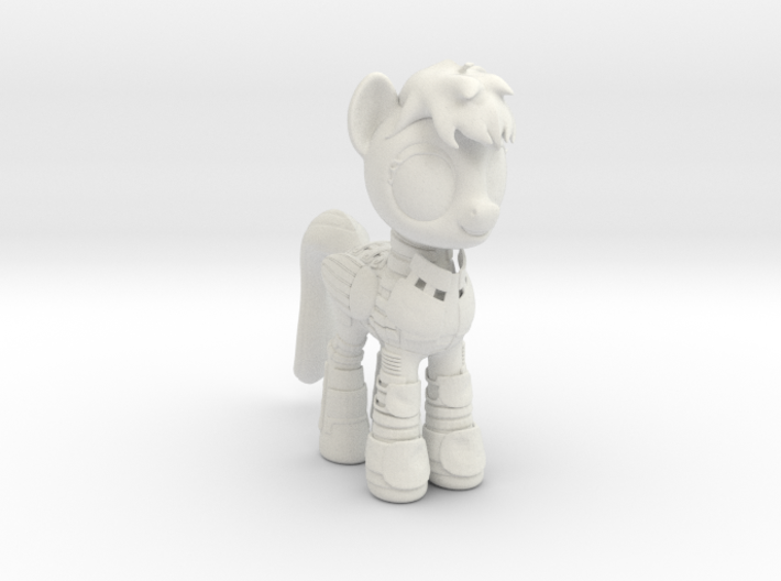 Pony SciFi Armor 3d printed