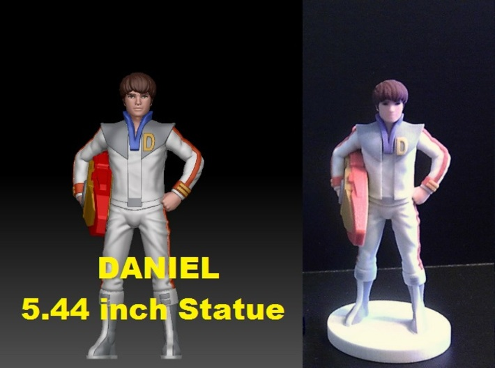 Daniel homage Space Boy 5.44inch Full Color Statue 3d printed Daniel 5.44inch figure printed in Full Color Sandstone