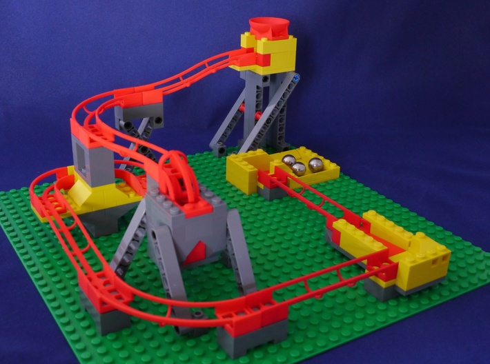 Marble Run Bricks: Curved Track Set 3d printed Marble Run Bricks example build