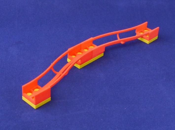 Marble Run Bricks: S-Bend Track Set 3d printed example build