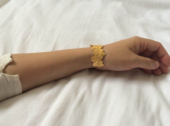 Orchid Bangle [ Size S ] 3d printed