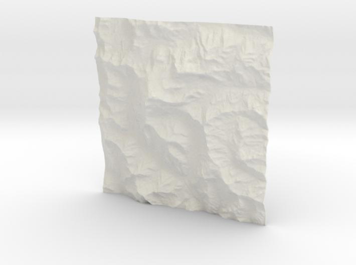 4''/10cm Aconcagua, Argentina, WSF 3d printed