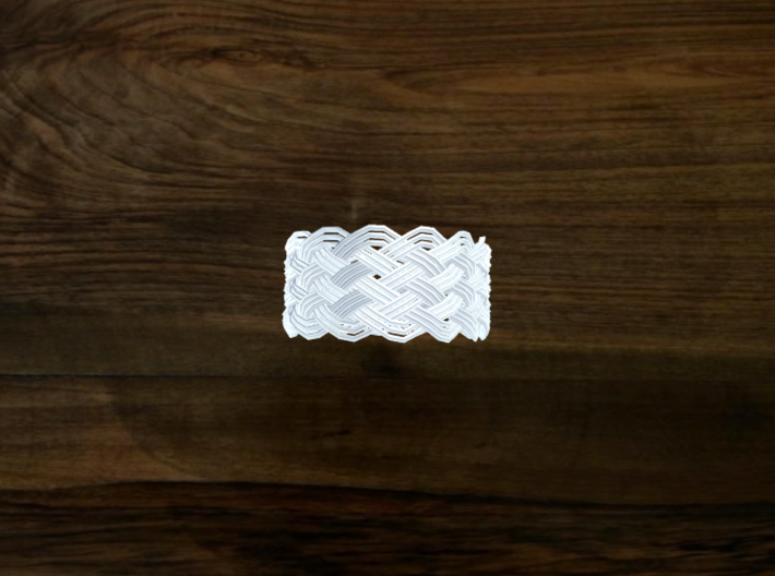 Turk's Head Knot Ring 7 Part X 14 Bight - Size 19. 3d printed