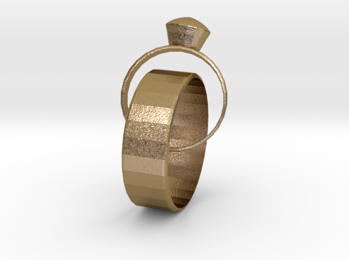 Eternal Marriage Rings 3d printed