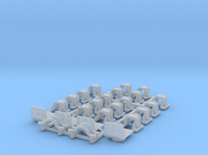 PRR F22 or F23 Flat Car Detail Kit (1:29 scale) 3d printed