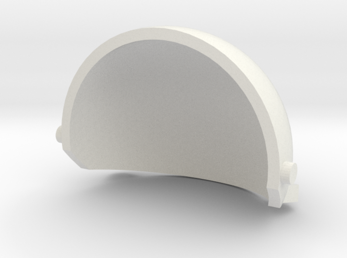 Puppet eyelid for 4cm ping pong ball - version3 3d printed