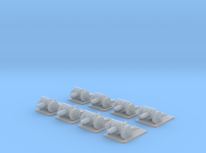 6mm WW1 field cannons x8 3d printed