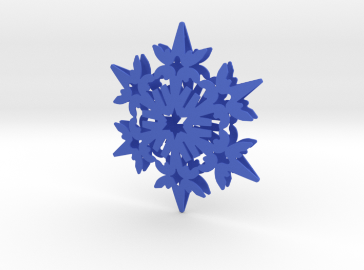 Wings Snowflake - 3D 3d printed
