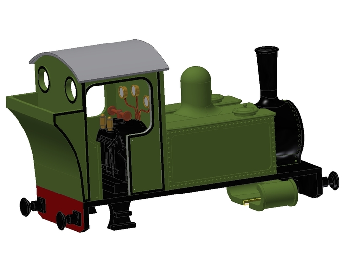 Side Tank Loco 3d printed